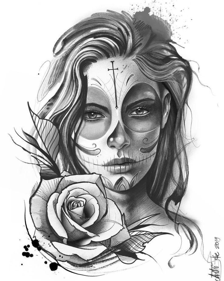 Pin On Woman Face Tattoo