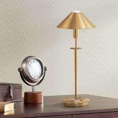 Holtkoetter Brushed Brass Halogen Desk Lamp - #98820   Lamps Plus