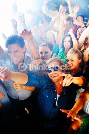 Stock Photo : Young people dancing at a disco