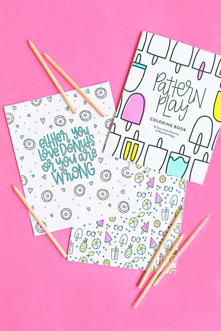 Sweet Treats Printable Coloring Pages | studiodiy.com