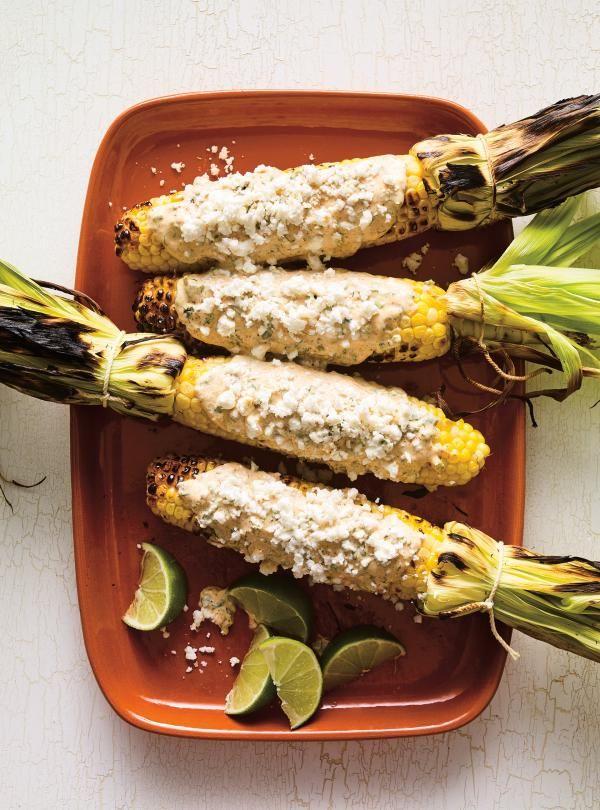 Elotes a la Parrilla (Grilled Corn on the Cob)   RICARDO