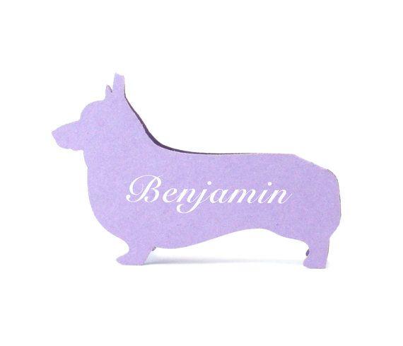 Corgi Place Cards - Wedding Place Cards, Dog, Escort Cards, Wedding Seating Card, Dog Bone, Fire Hydrant, Rustic Wedding, Pets, Party