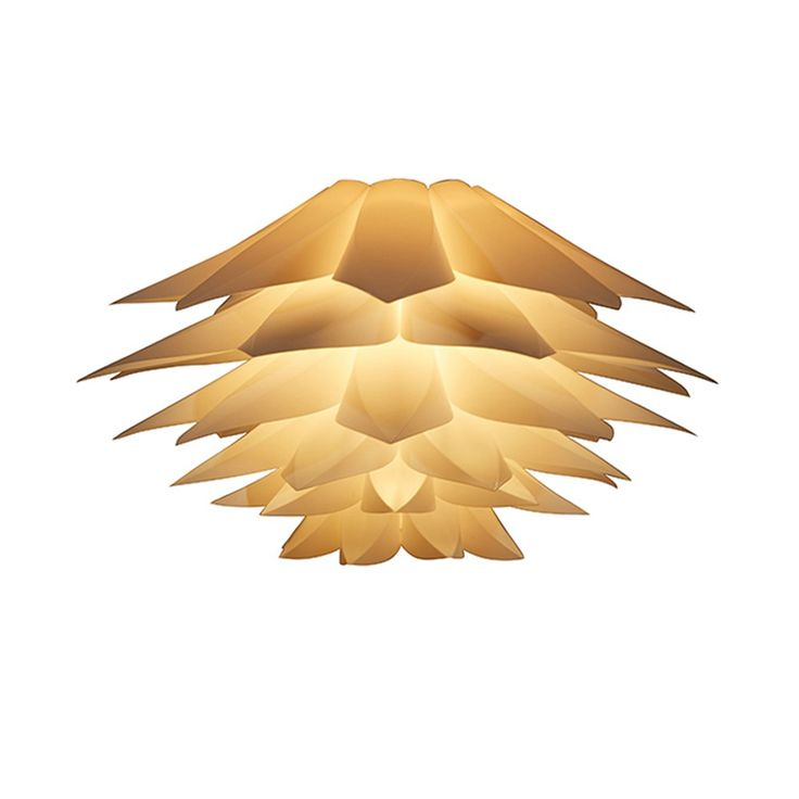 Only US$7.08, type1 48 PCS DIY Kit Lotus Flower Pendant Light PP Jigsaw Lamp - Tomtop.com