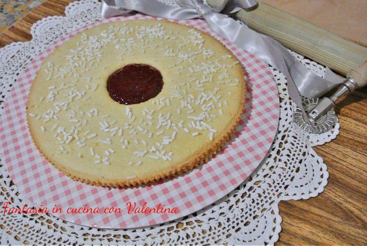 Torta+occhio+di+bue+alla+marmellata