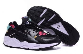 30843d6ef64b 2018 的 Genuine Nike Air Huarache Print Floral Safari Black White ...
