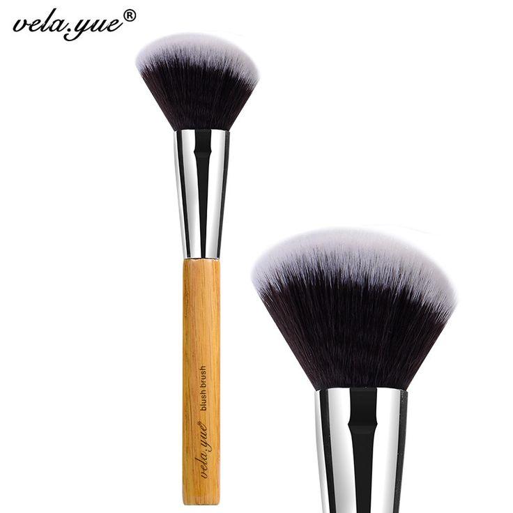 Vela. yue Angolato Blush Bronzer Contorno Pennello Sintetico Fronte Cheek Blush Powder Makeup Tool