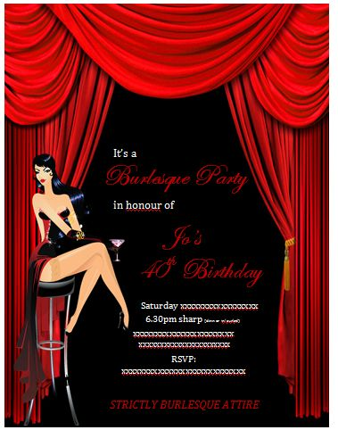 """Photo 1 of 25: Burlesque / Birthday """"Burlesque 40th Birthday Party"""" 
