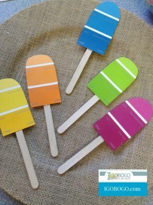 ijsjes van verfstaaltjes