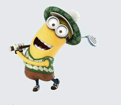 Two favorite things golf and minions!