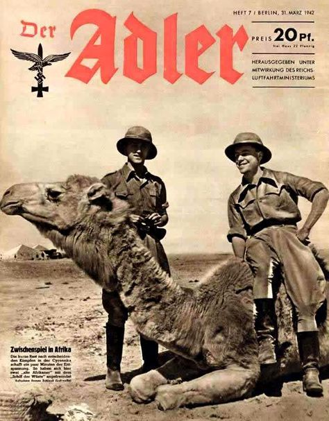 Der Adler magazine featuring the Afrika Korps. Pin by Paolo Marzioli
