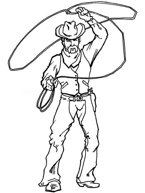 cowboy cowboy spinning lasso wide coloring page cowboy spinning lasso wide coloring pagefull size