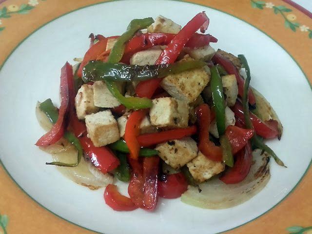 Tofu marinado con verduras a la plancha | Un Sueño Dulce