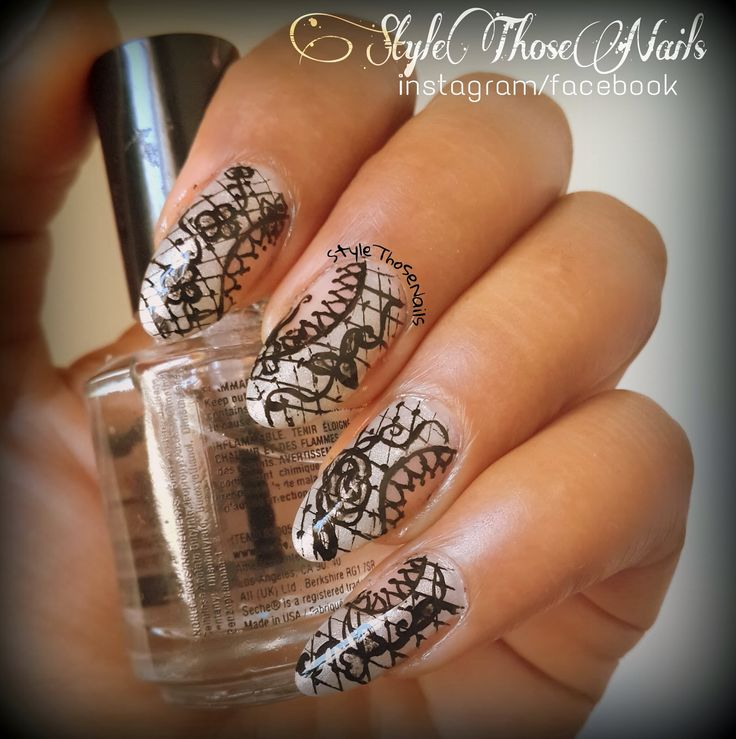 Style Those Nails: Mani Monday - Lace Nail Art
