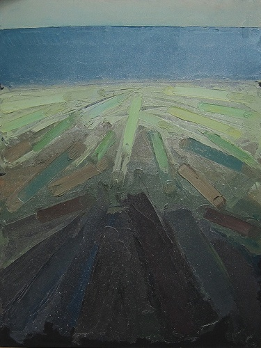 Love the use of the palette knife: William Congdon painting