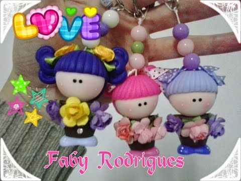 CHAVEIRO FOFURICE EM BISCUIT FABY RODRIGUES - YouTube
