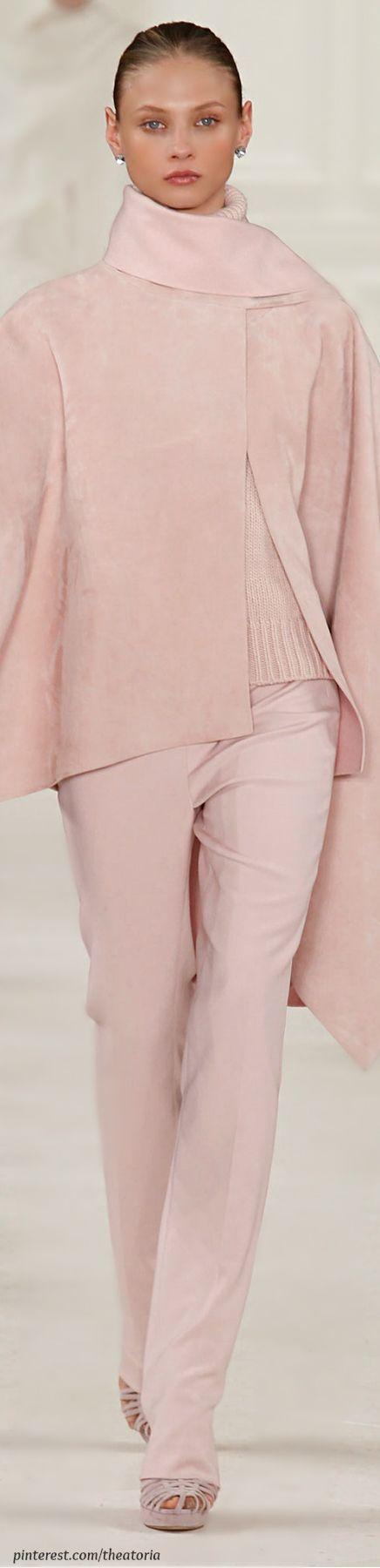 ♔ Ralph Lauren ● Fall 2014  I believe in Pink and Ralph Lauren!!