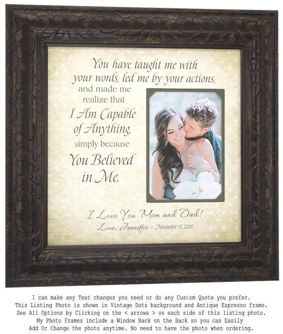 Personalised Wedding Mother Father Of The Bride Groom Thank You 4x6 Photo Frame Home Decor Frames