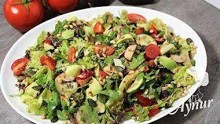 Gemischter salat mit selbstgemachte Marinada#Meinerezepte – YouTube – Gemüse un… – Einfache Salat Rezepte