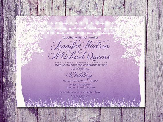 Would be so cute on blue background-- Digital - Printable Files - Shade - Winter Garland Lights Wedding Invitation and Reply Card Set - Wedding Stationery - ID80MGRP on Etsy, $37.84 CAD