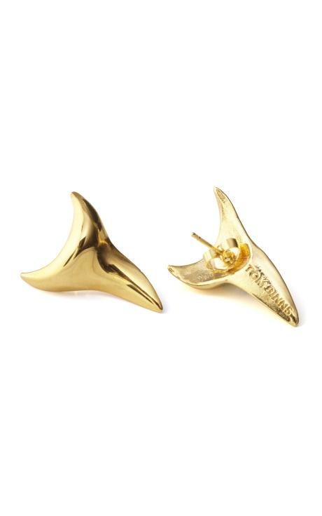Shark Tooth Studs by Tom Binns