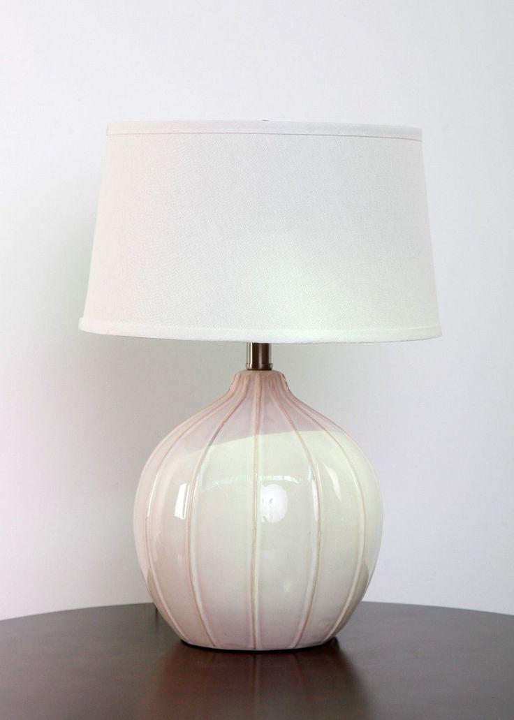 shade 12 beautiful linen lamp features highlands ceramic linen shade. Black Bedroom Furniture Sets. Home Design Ideas