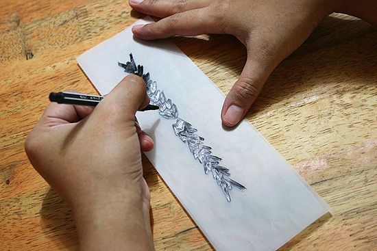 How to create a temporary tattoo. Helpful for giving designs a test-drive.