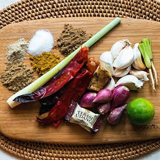 DIY Thai Panang Curry Paste | Thai curry paste is one spice blend every cook should have in their pantry.  This DIY recipe uses dried chiles, ground peanuts, and ginger among other flavorings. The vibrant flavor and intensity of homemade curry paste do not compare to the store bought version. Aside from making a Thai curry dishes, panang curry paste can be a flavor base for a variety of dishes including a marinade, salad dressing, or even a sandwich spread.  - Foodista.com