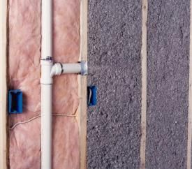 Insulating stud cavities in existing homes should you for Types of insulation for basement