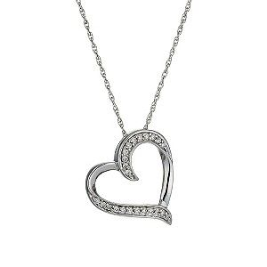 Wear your heart on your sleeve with this heart pendant from Ernest Jones