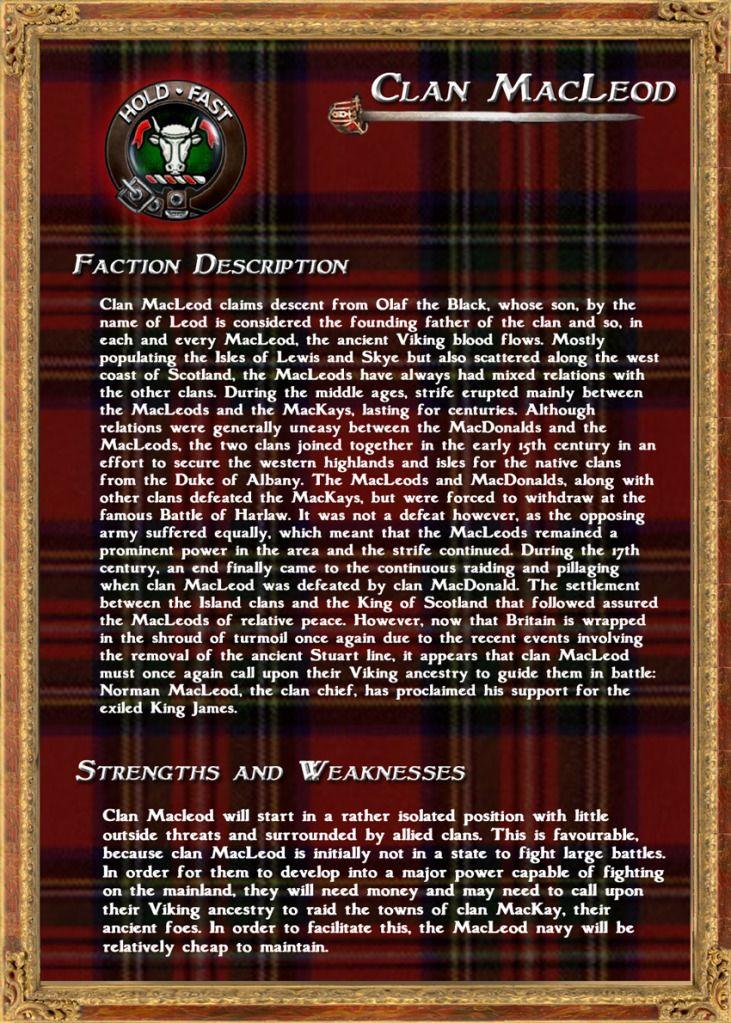 Photo Clan MacLeod Description