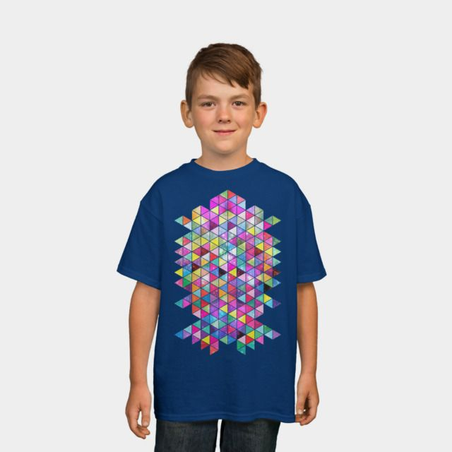 Kick Of Freshness Kids Tee by Fimbis available as a T Shirt, Phone Case, Tank Top, Crew Neck, Pullover, Zip, and Sticker. #fashion #abstract #colorful #colourful #pink #shapes #purple #geometric #kidsfashion #children