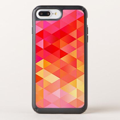 Orange Pink Bright Summer Colors Triangles Pattern Speck iPhone Case - pattern sample design template diy cyo customize