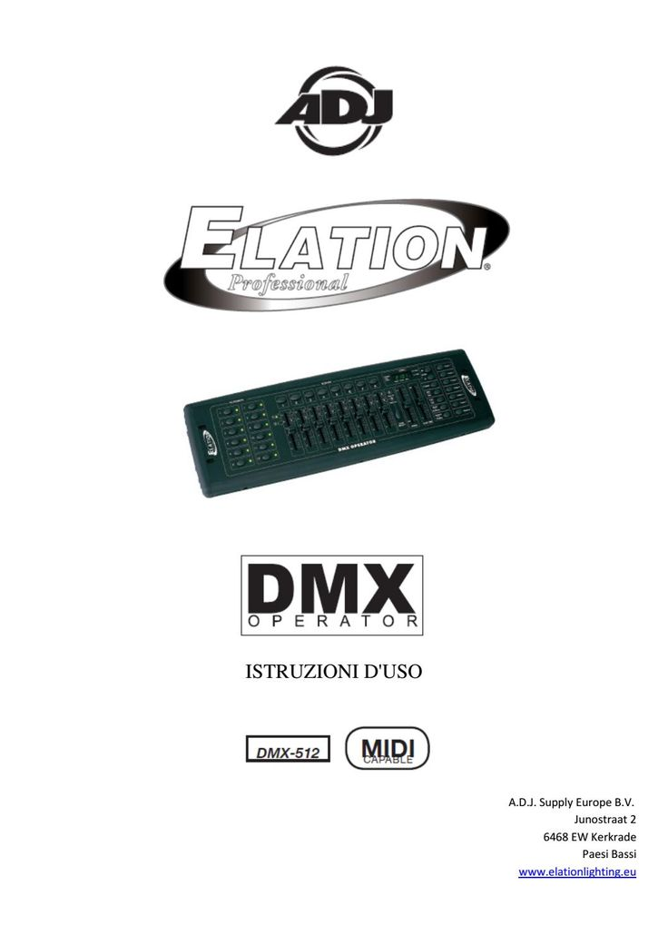 Manuale italiano Mixer dmx operator