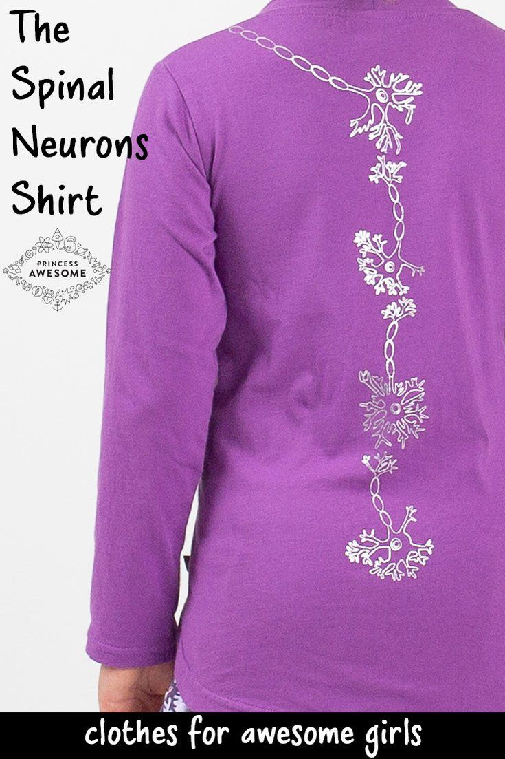 Spinal Neurons Long Sleeve Tunic Shirt Cute Items For Kids For