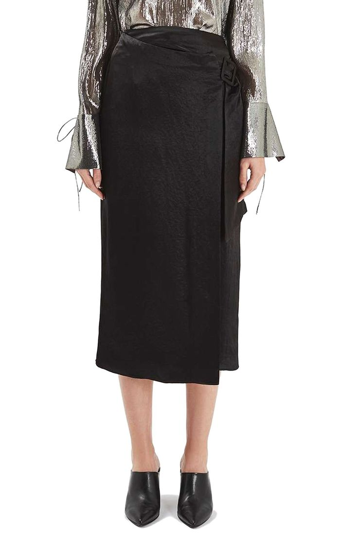 Topshop Boutique Buckle Wrap Skirt available at #Nordstrom
