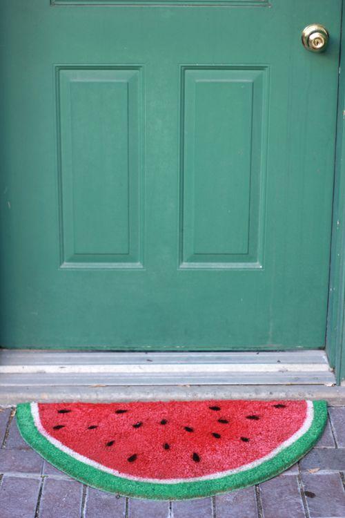 Watermelon Welcome Mat