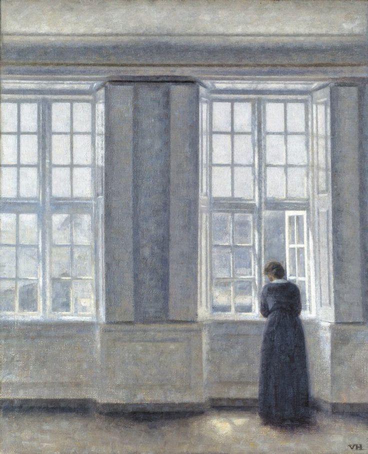 Le finestre alte, 1913 Vilhelm Hammershoi
