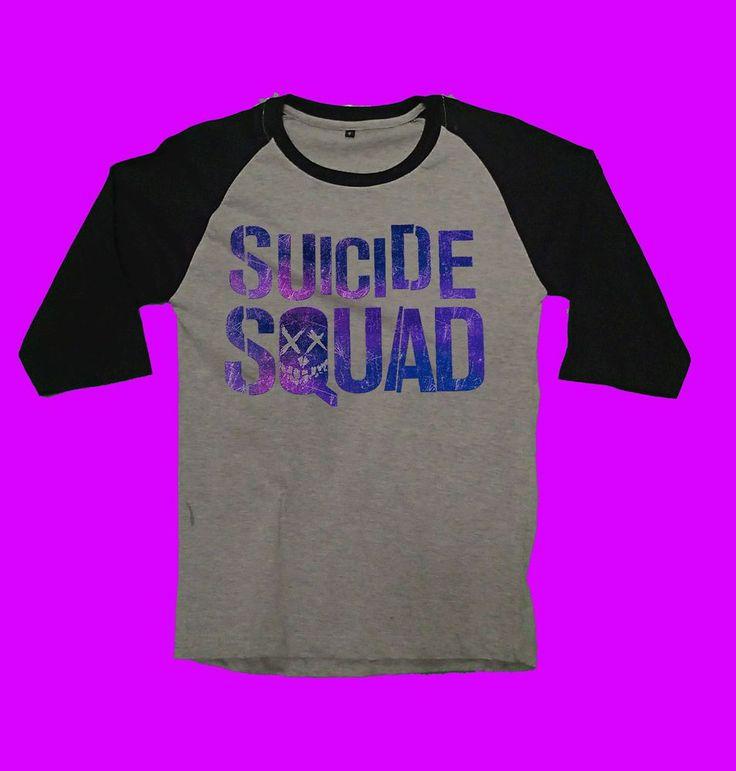 suicide squad shirt tshirt margot robbie harley quinn will smith jared leto  #unbranded #raglanbaseball
