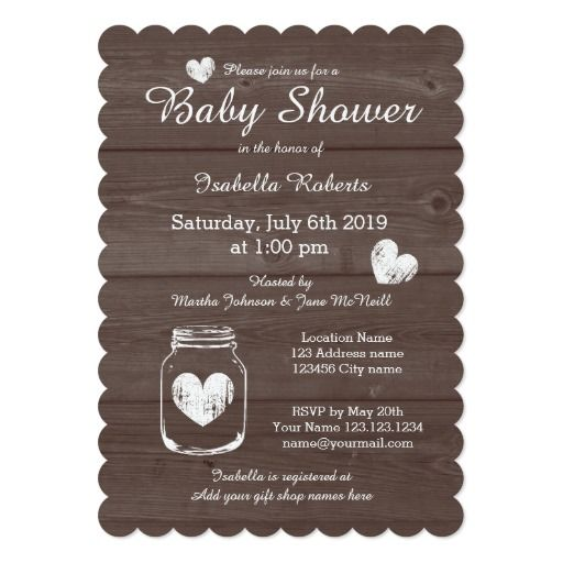 17 best images about rustic baby shower on pinterest | rustic wood, Baby shower invitations