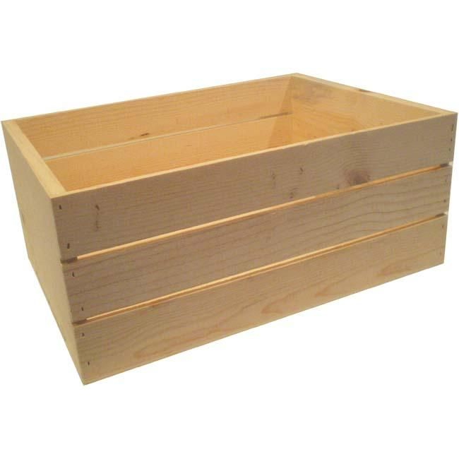 Large 22 Inch Wooden Crate Nesting For Paws Large