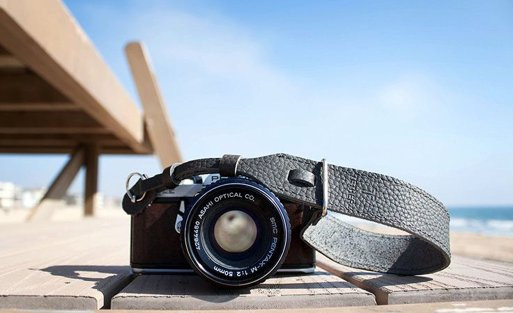 TETHER Grey Leather Wrist Camera Strap for DSLR or SLR camera, DSLR Camera Strap. Camera accessories. Canon camera strap. Nikon camera strap * To view further for this item, visit the image link.
