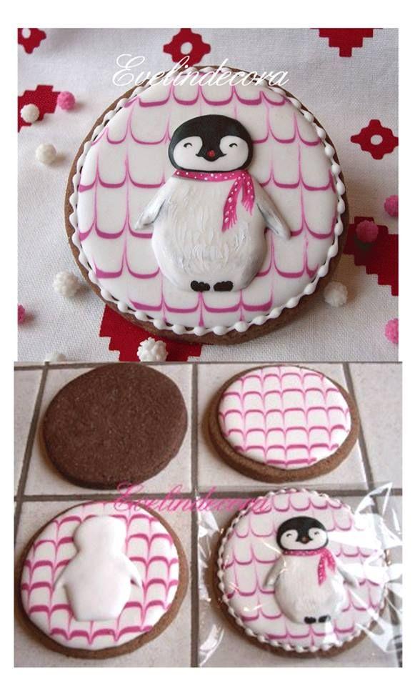 penguin cookie    http://blog.giallozafferano.it/evelindecora/wp-content/uploads/2013/11/biscotti-al-cacao-Evelindecora-tutorial-4.jpg