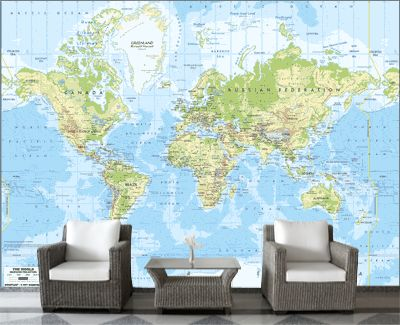 26 best World Maps images on Pinterest World maps, Bedrooms and - best of world map for wall mural