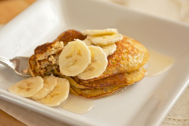 Banana Pancakes - I doubled the recipe, added vanilla, and some yogurt ...