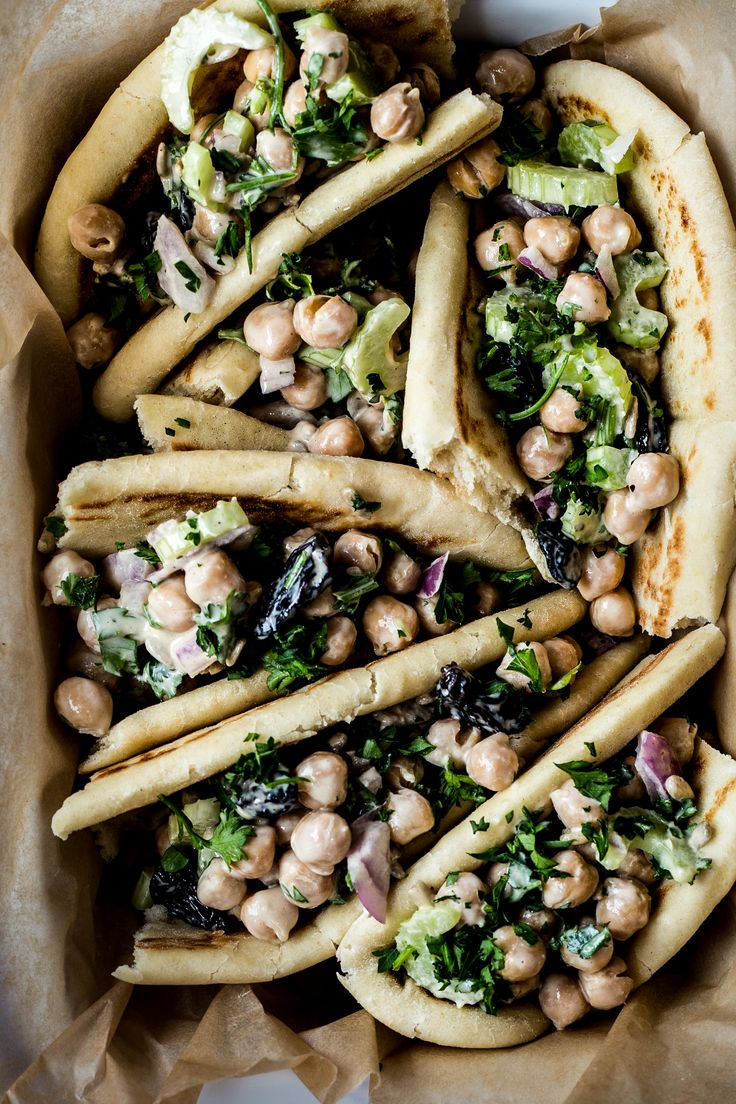 Chickpea Tahini Salad Wraps - Dishing Up the Dirt