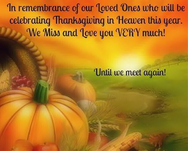 Remembering Loved Ones On Thanksgiving