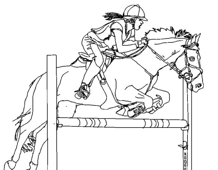 horse show jumping coloring pages | Bakgrunder