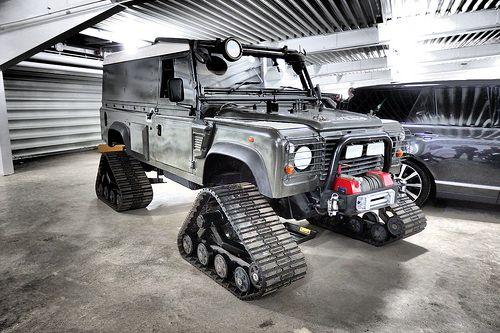 1997 Tracked Land Rover Defender. Superb