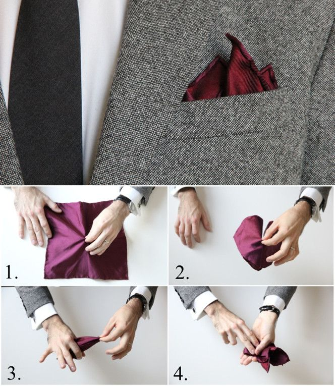 how to wear a pocket square casually