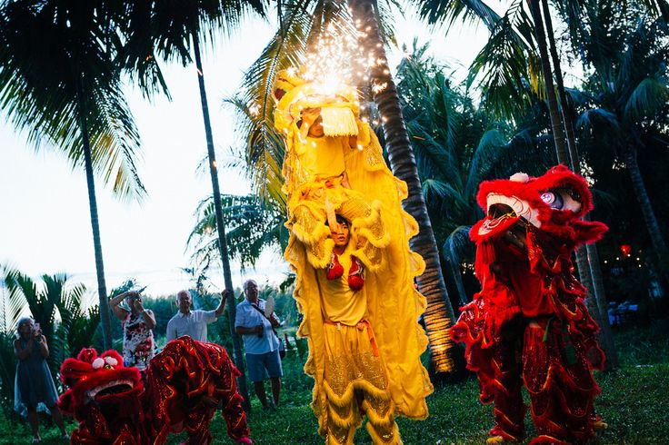 Riverside is the ideal location for a traditional Hoi An Lion Dance performance. Treat your guests to something local. #HoiAnEventsWeddings #HoiAn
